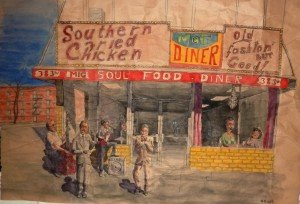 M&G Diner - Harlem - Soul Food and Blues Band dans Dessin - Aquarelle P1010288-300x204