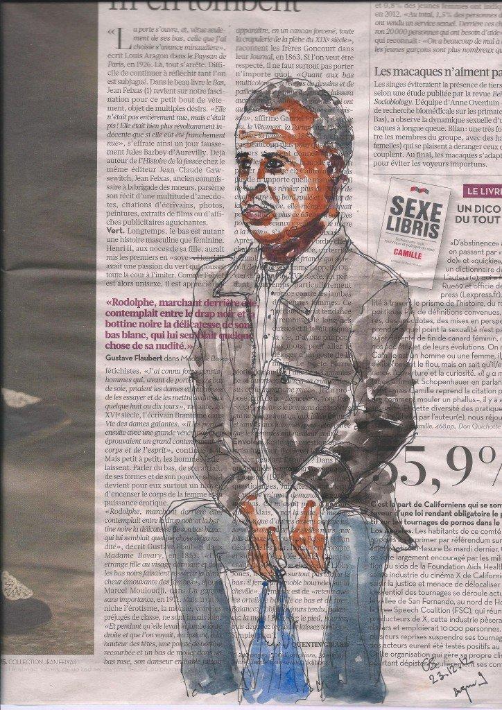 Dans le metro - Libération du 13 novembre 2012 dans Dessins de metro metro-110002
