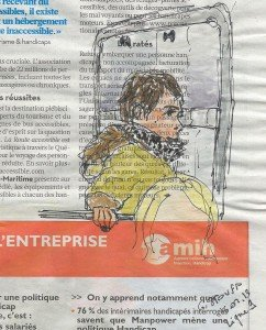 Dans le métro- Libération du 13 novembre 2012 dans Dessin - Aquarelle metro-110006-242x300