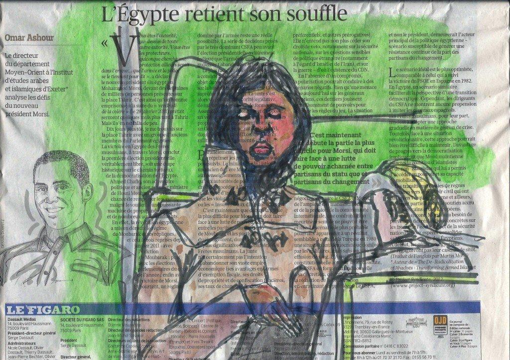 Dans le métro en rouge et vert dans Dessin - Aquarelle metro-1200001